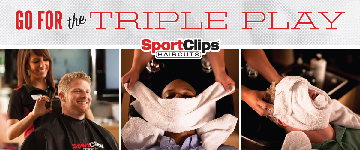 The Sport Clips Haircuts of Shoppes at Riverdale Coon Rapids Triple Play